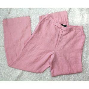 Lauren Ralph Lauren pink linen trousers
